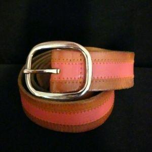 American Eagle Women's Pink Leather Belt